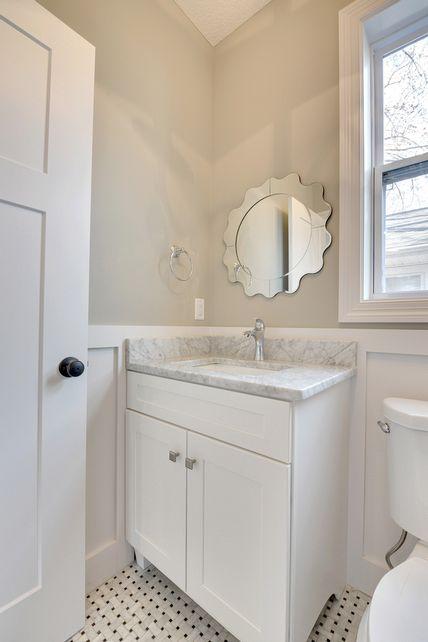 cabinets, vanity, powder room